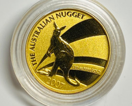 Perth Mint The Australian gold Nugget 1/20 Ounce Gold 2007