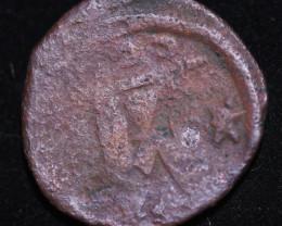 330 AD + Roman Byzantine large Bronze Follis Coin. code CP 655