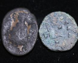 330 AD + Roman Byzantine large Bronze Follis Coin. code CP 662