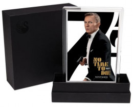 Movie Poster James Bond-No time To die -5G Silver foil