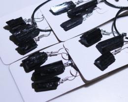 Holistic Raw black Tourmaline 12 pc jewellery Set   BRBT2-4