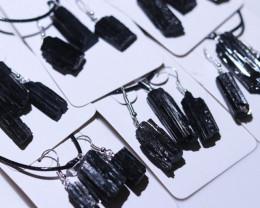 Six sets Holistic Raw black Tourmaline 18 pc jewellery Set   BRBT2-6
