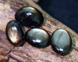 8.85 Cts Parcel 4  Star Golden Black Sapphire CCC 499