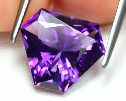 3.91 Cts Fancy Cut Violet Amethyst   CCC 527