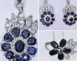 Deep Blue Sapphire Jewellery set   code CCC  561