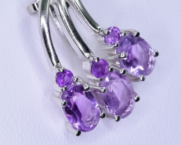 Natural Cluster Amethyst 925 Sterling Silver Pendant   CCC 565
