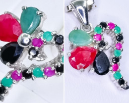 Lovers Ruby ,emerald, Sapphire 2 pc  Jewellery set   CCC 567