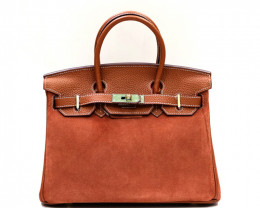 COW LEATHER SHOULDER HANDBAG
