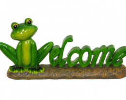 Decorative Welcome Frog  code FROGWELL