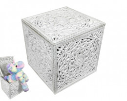 Toy Filigree Cube Storage Box  Code CUBEFIL