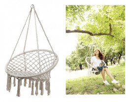 123cm Oval Macrame Hanging Chair  Code MACCHAIR