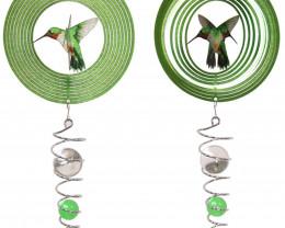 Green Humming Bird Spinner 1pc  Code HUMSPINB