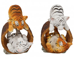 Cute Tiger Cubs In Log 2pcs  Code TIGLOG