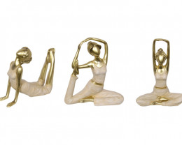 Golden Inspirational Yoga Ladies 3pcs  Code YOGALADY