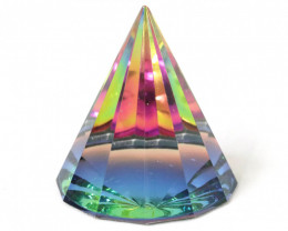 Rainbow Crystal Pyramid Paperweight 1pc Code PYRAMIDPW