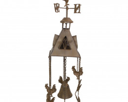Farm Rooster Weather Vane Bell Wind Chime   Code ROOMWVI