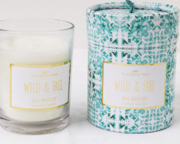 Wid & Free Sea Breeze Scented Candle  code CANBOHOP