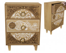 Beautiful 3 Drawer Box Gold Mandala   code MANDGGR
