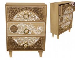 Beautiful 3 Drawer Box Gold Mandala   code MANDGGR