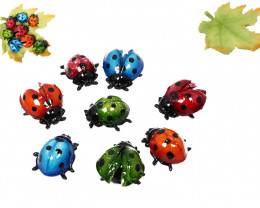 Colorful Ladybug on Leaf  48pcs  Code LBUGDX