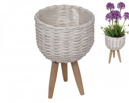 29cm White Wicker Pot  2pcs  Code WICSMLLE