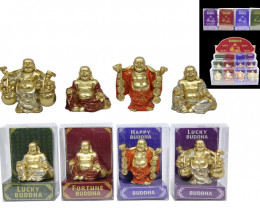 Lucky Buddha Display set 12pcs  Code BUDDLUCK