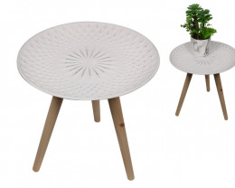 40X40 Floral Finish Side Table  Code TABWFLO