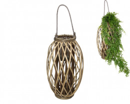 51cm Large Natural Wicker Plant Holder  Code WICNATL