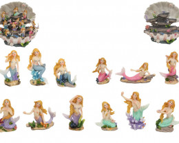 Colorful  36 pcs Mermaid on Coral Display Shell  Code MERPACKX