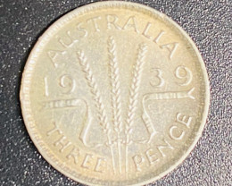 1939 Australian silver three pende code CP 714