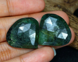 32.43 Cts Green Emerald  CCC 575