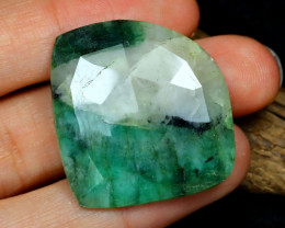 24.49 Cts Green Emerald   CCC 579