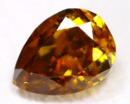0.24 Ct Fancy Orange Diamond   CCC 611