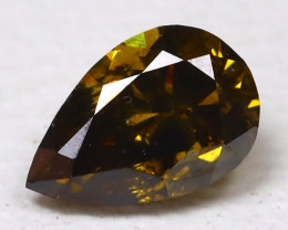 0.19 Ct  Greenish Orange Diamond CCC 614