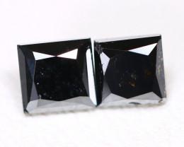 0.98 Cts Brilliant Black Diamond  CCC 620