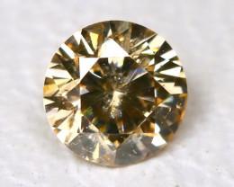 0.11 Ct Yellow Orange Diamond  CCC 624
