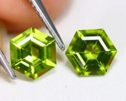 2.04 Ct Hexagon Neon Green Peridot  CCC 626