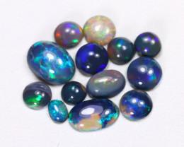 2.33Cts  Parcel Aussie Black  Opals    code CCC 5191