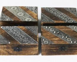 Jewelry Wood Celtic Box 4pcs   Code BOXCEL4