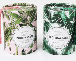 Set of 2 Tropical Scented Candle  code CANRAIN