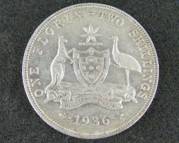 FLORIN 1936 COIN 925 SILVER T771