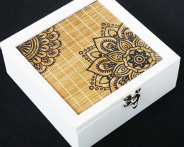 Jewelry Square White Mandala Box  Code MANWSBOX