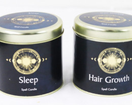 Sleep & Hair Growth Scented Candles  code CANLUCKY