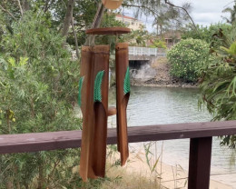 Leaf Bamboo Windchime  Code BAMLEAFT
