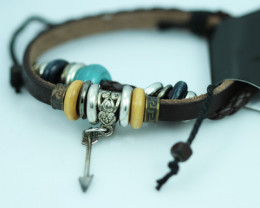 Arrow Love Design Dual Leather Bracelet CCC 679
