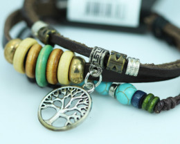 Tree of Life Design Dual Leather Bracelet CCC 680