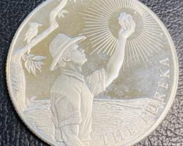 Popular 1 oz 999.5% Silver Eureka Coin. ABC Bullion