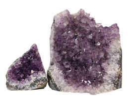 2.2kg Amethyst Crystal Geode Specimen Set 2 Pieces P317