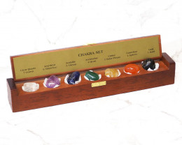 Chakra Set in Gemstone Box