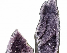 1.65kg Amethyst Crystal Geode Specimen Set 2 Pieces P371